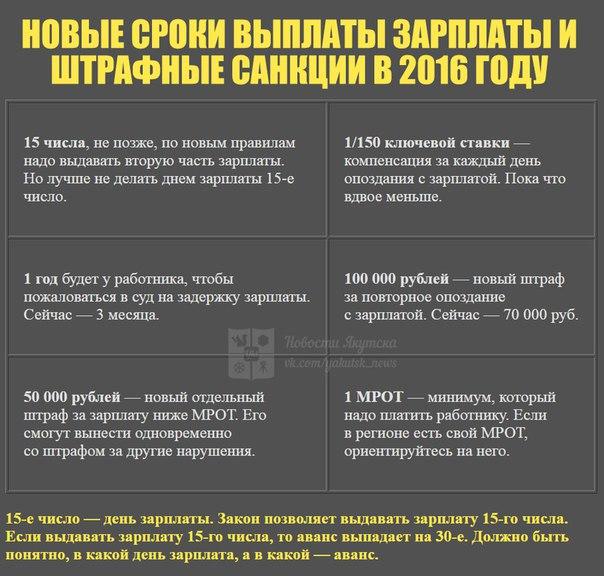 В России новые правила выдачи зарплаты