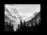 Темный лес. Цифровое рисование