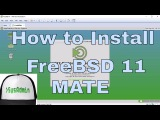 How to Install FreeBSD 11 + MATE Desktop + Apps + VMware Tools & Review on VMware Workstation [HD]