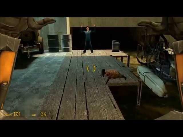 Хитрый хедкраб из GTA   Прикол HALF LIFE 2