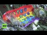 У посольства США в Москве прошла акция памяти погибших в Орландо
