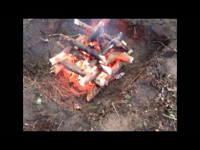 Как разжечь костер Колодец