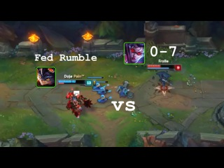 LoL Best Moments #49 0-7 Vayne Outplays fed Rumble (League of Legends)