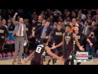 Tissot Buzzer Beater: Giannis Antetokounmpo Wins It For Bucks   01.04.17 #NBANews #NBA