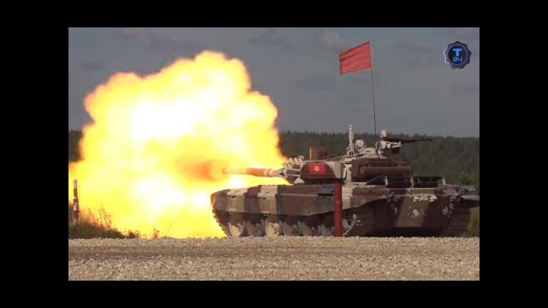 Танковый биатлон. За кадром