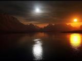 Плоская земля  солнце, луна  абсолютно черные эмиттеры излучений сенсационный ф ...