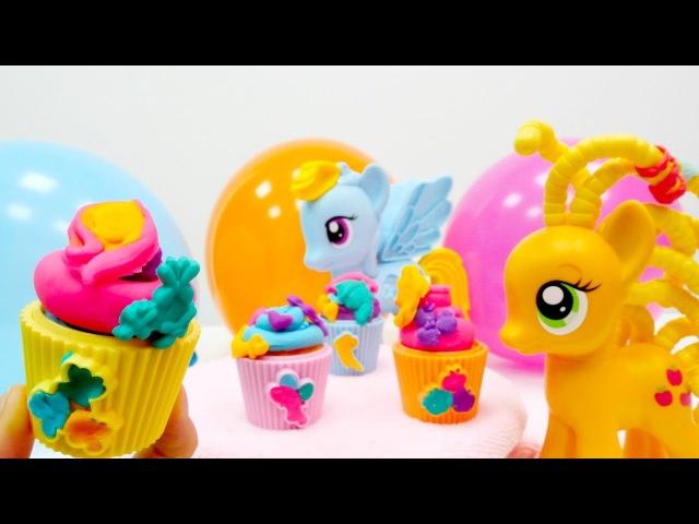 Nicole parti organizasyonu PinkiePie için cupcake yapıyor. hamurounları