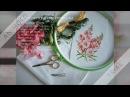 Вышивка цветочной миниатюры