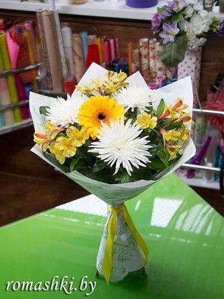 Живые цветы в молодечно изысканный подарок на новый год женщине