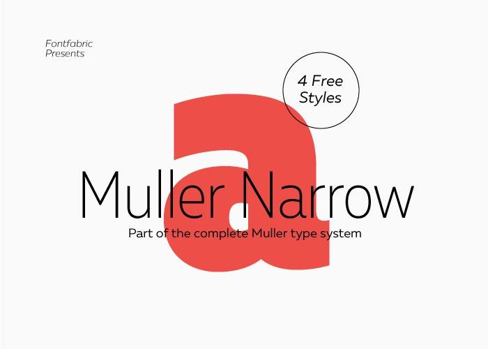 muller narrow шрифт скачать бесплатно