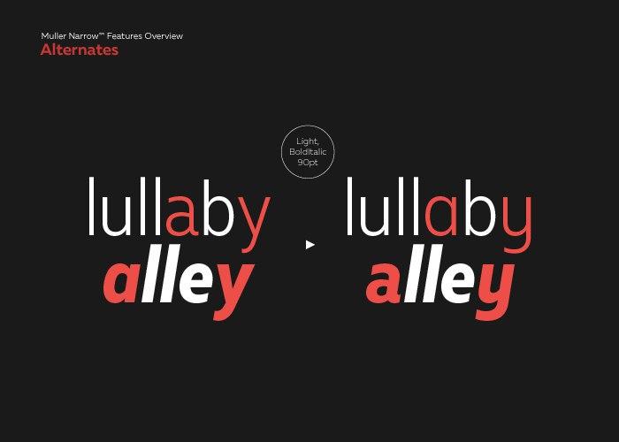 Download muller narrow font (typeface)