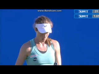 Окончание матча Плишкова-Конта