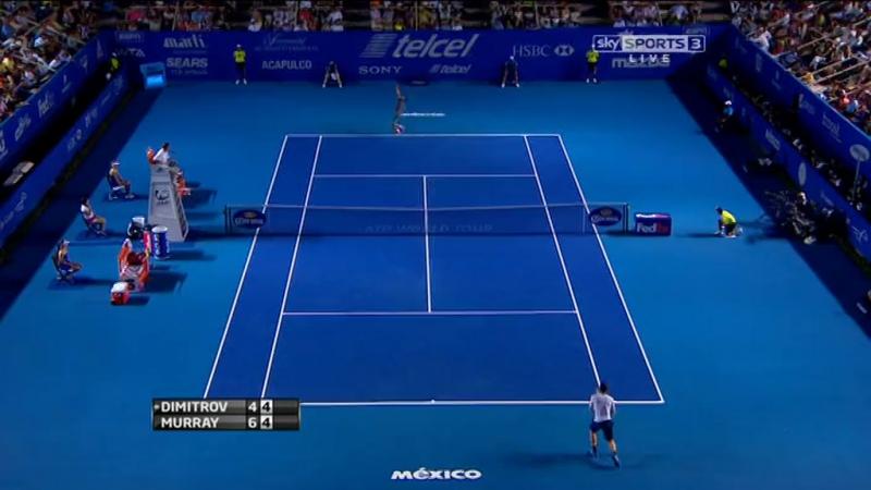 Grigor Dimitrov vs. Andy Murray 4-6, 7-6(5), 7-6(3) Abierto Mexicano de Tennis Telcel Acapulco (SF) 01.03.2014.