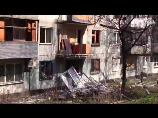 украинские каратели продолжают терроризировать и проводить геноцид над жителями Донбасса . Улица Чапаева ,#Донецк .