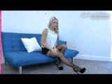 Legslavish Top 12 videos of all time - Number 10 - Gabrielle with Corsetti fishnets. 2