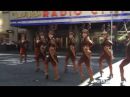 The Rockettes perform 'Sleigh Ride' outside Radio City Music Hall