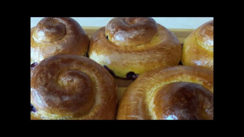 ВЫПЕЧКА Рецепт вкусных и пышных булочек с вишней УЛИТКА Рецепт теста