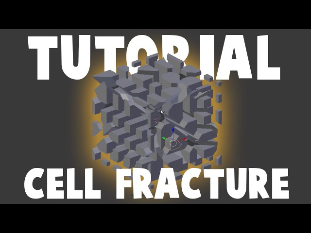How to use Cell Fracture in Blender 3D - Tutorial (basic and intermediate level)