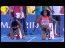 Elaine Thompson vs Barbara Pierre Carina Horn 100m FINAL Madrid 2015