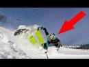 ЧОКНУТЫЙ РУССКИЙ - Чуть не разбился! GoPro Snowboard