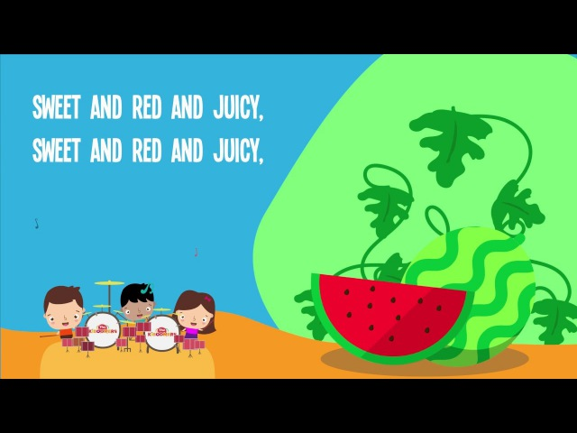 Watermelon Song for Kids   Fruit Songs for Children   Food Songs   The Kiboomers