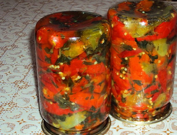 Заготовки из перца с маслом на зиму