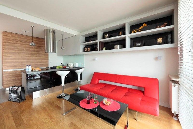 Интерьер квартиры 32 м в Польше.