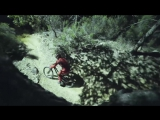 Loic Brunis Midnight MTB Ride on a Trail lit by a Drone!