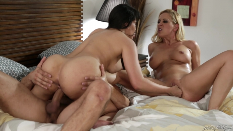 Cherie De Ville, Mercedes Carrera Danny Mountain HD 1080, All Sex, Threesome, MILF, Blonde, Big Tits,