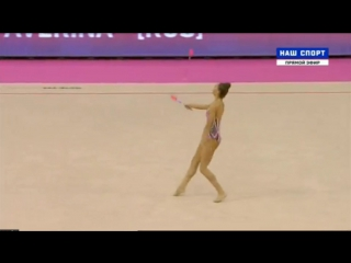 Арина Аверина - булавы (многоборье) // Чемпионат Европы 2-17