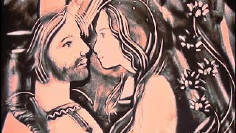 Петр и Феврония. Песочная анимация Елены Жемиря