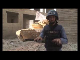Репортера Аль Джазиры накрыло взрывной волной