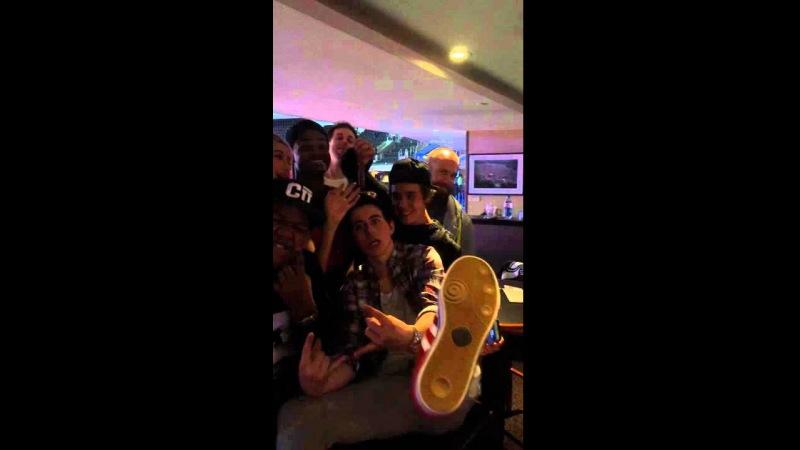 Justin Bieber, Hailey Baldwin, Kyle Massey, King Bach Nash Grier at LA Clippers game - 22/01/15