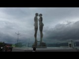 Statue Of Love- Batumi Moving Statues Of A Man And Woman