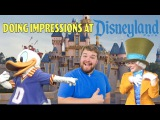 Man does impressions to characters at Disneyland