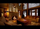 Beautiful Snow with Fireplace Sound