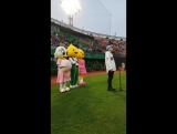 Babylon singing national korean anthem