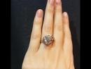 Роскошное кольцо, белое золото 750 пробы, чистейшие бриллианты, международный сертификат