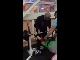 Жим в слинге ,120 кг на 3
