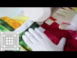 Интересный и несложный вариант стёжки.   4-Color Fruit Slices Quilt  Midnight Quilt Show with Angela Walters