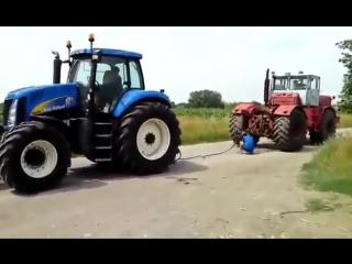 Битва тракторов - New Holland T8030 vs К-701 Кировец, кто кого