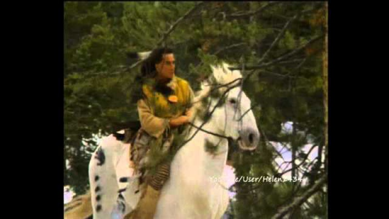 Native American-Cheyenne In The Snow.wmv