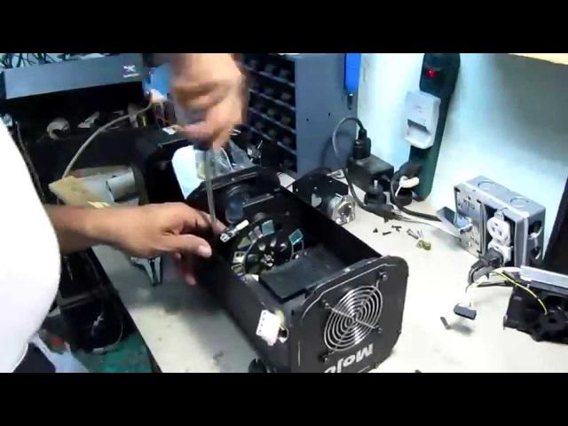 Convercion de foco dicroico de 24 v 250 W a Led 100 Watts