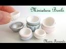 EASY NO MOLD Miniature Polymer Clay Fimo Dolls Bowls Tutorial Maive Ferrando