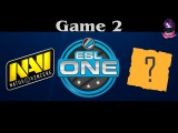 NoDiggity vs NaVi Game 2 | ESL ONE Frankfurt (18.04.2016) Dota 2