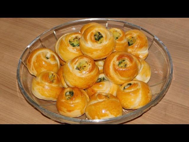 Булочки розочки с картофельной начинкой по турецки. Турецкие пирожки розочки.