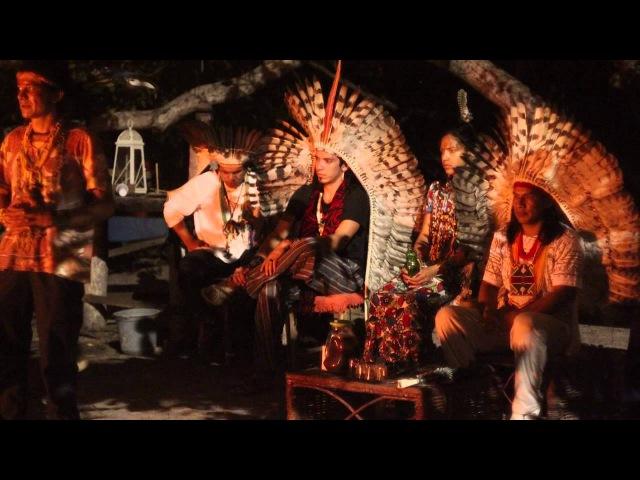 Canto dos Índios Yawanawá na Eco Aldeia Flecha da Mata - Canoa Quebrada