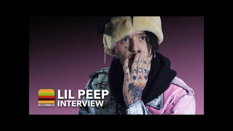 Интервью LiL PEEP для «Fast Food Music» (LiL PEEP Interview)