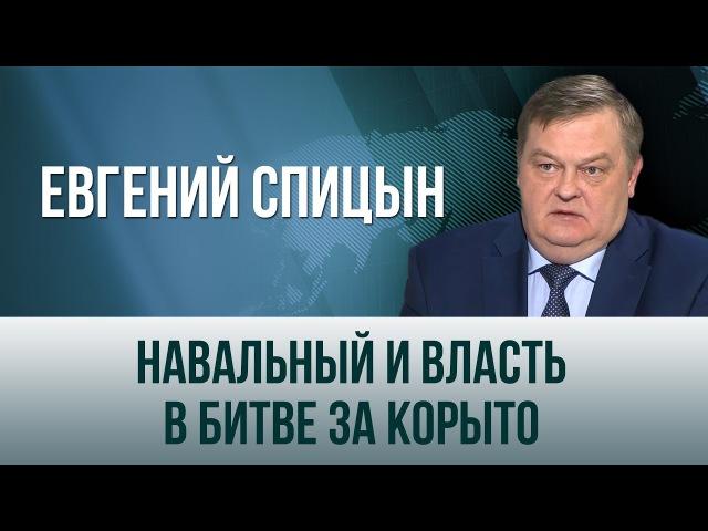 Евгений Спицын Навальный и власть в битве за корыто