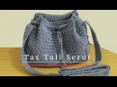 Crochet Tutorial Tas Tali Serut Drawstring Bag - Mini Bean Stitch
